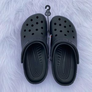 NWT Black Crocs